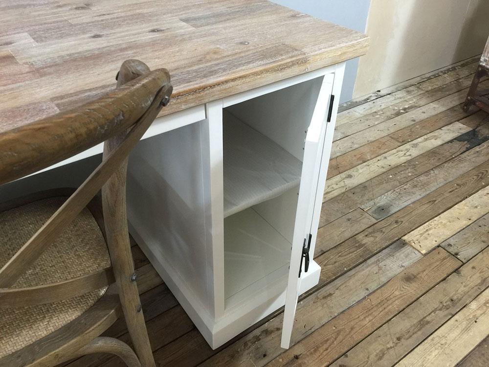 Landelijke meubels uniek bureau wit op voorraad ans woonshop