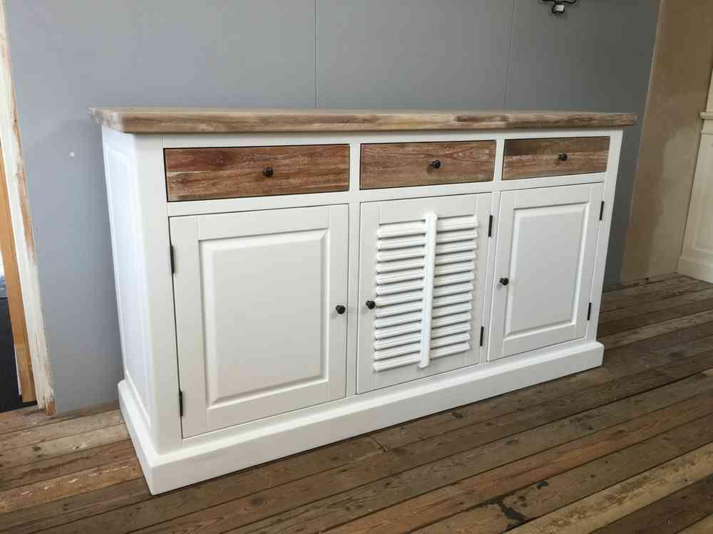 Dressoir Wit Landelijk : Landelijk dressoir met houten laden ans woonshop