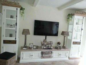 Landelijke TV-meubel wit Riviera