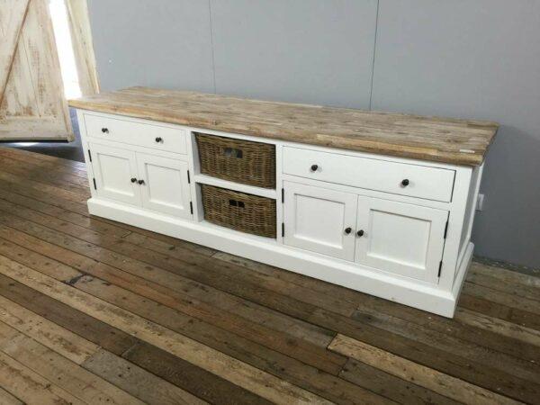 Landelijk wit TV-meubel 65 cm hoog