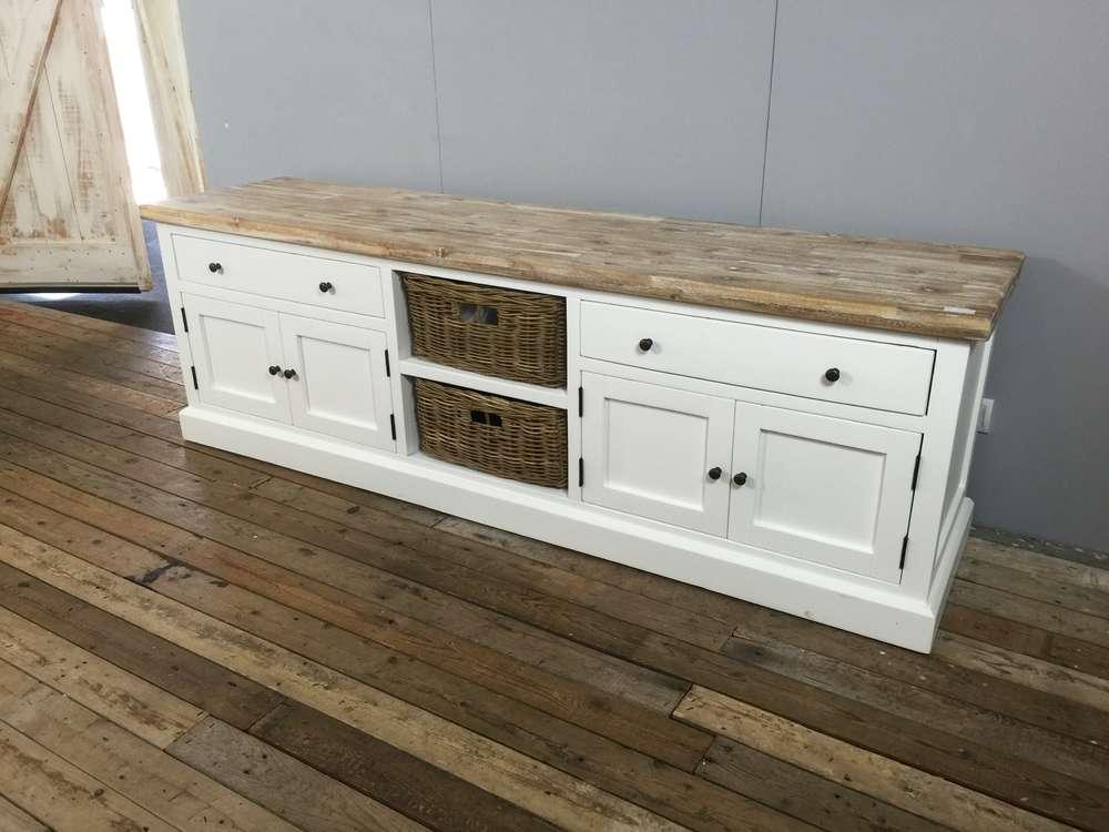Landelijk tv meubel wit gladde panelen aw a ans woonshop