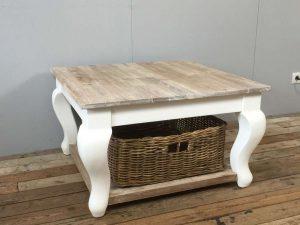 Landelijke salontafel barok vierkant
