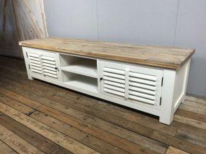 TV-meubel wit landelijk shutters