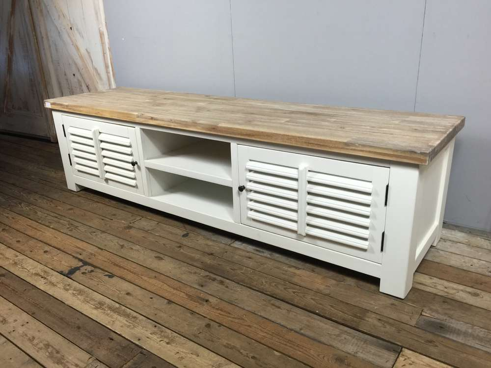 Landelijk Tv Meubel : Landelijk tv meubel wit 190 cm. aw1022. ans woonwinkel