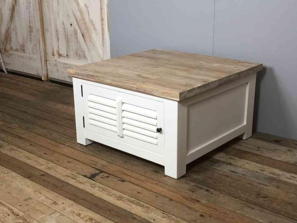 Landelijke salontafel wit shutters aw1025 goedkope keuze for Meubels bestellen met acceptgiro