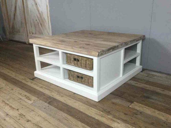 Vierkante salontafel wit