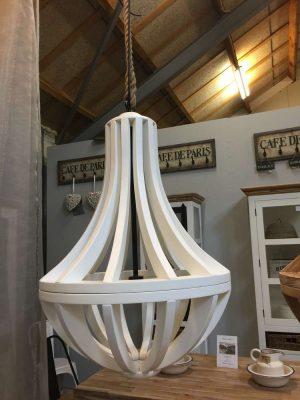 Landelijke lamp kroonluchter wit