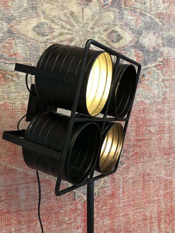 vloerlamp zwart 4 lampen
